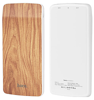 Внешний аккумулятор Hoco J5 Wooden   8000 mAh   Power Bank   Грецкий орех, фото 1