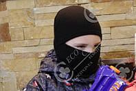 Детская шапка шлем. Балаклава. Вязанная. Осень, зима 52, молочный