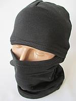 Трикотажные маски черного цвета.