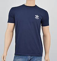 """Мужская футболка """"Премиум"""" Adidas (реплика) Синий"""
