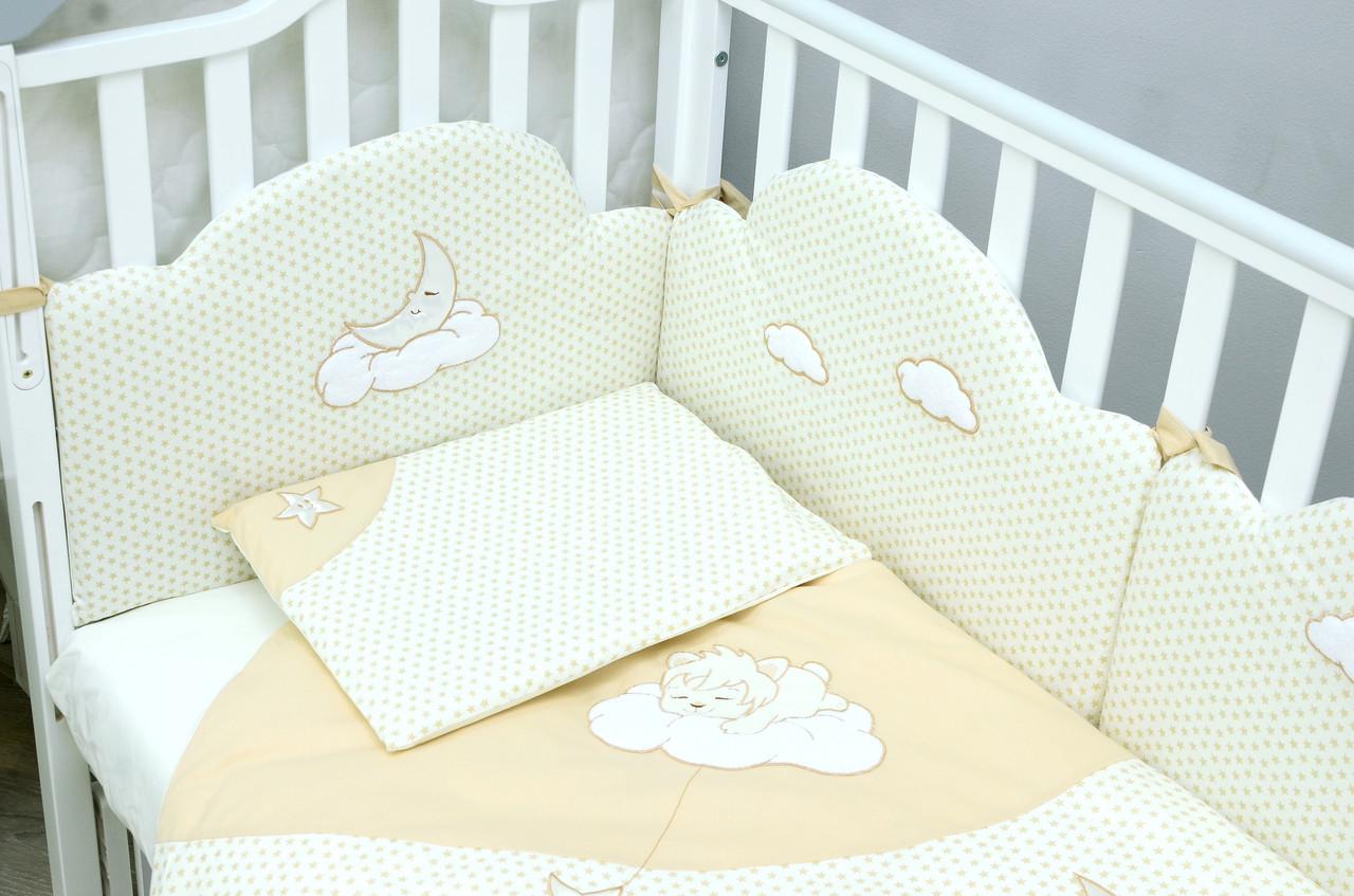Защита в кроватку Veres Sleepyhead beige 6ед