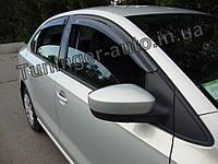 Ветровики, дефлекторы окон Volkswagen Polo Sedan 2010-2017 (Hic), фото 1