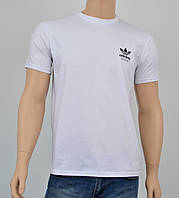 """Мужская футболка """"Премиум"""" Adidas (реплика) Белый"""