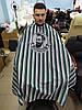 Пеньюар парикмахерский барбер MQ001 зелёный