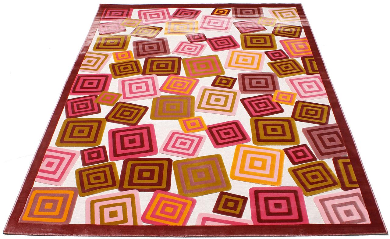 Коврик современный BONITA 3219 0,76Х1,5 Розовый прямоугольник