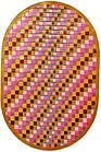 Ковер современный BONITA 7203 1,52Х2,3 ЗЕЛЕНЫЙ овал, фото 3