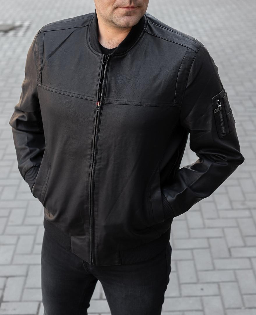 Мужская куртка бомбер из кож зама Cл 1772