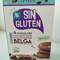 Без глютена и пальмового масла печенье овсяное с шоколадом B-Live De Avena 150 г Испания