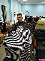 Пеньюар парикмахерский барбер MQ001 чёрный