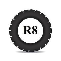 Резина для мотоблока R 8