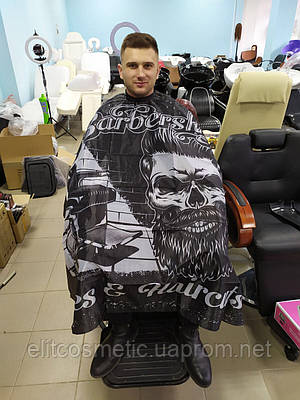 Пеньюар парикмахерский барбер LH44-1