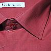 Мужская рубашка бордового цвета, фото 2