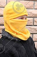 Шапка шлем,  балаклава.  Полар флис цветной 52, апельсин