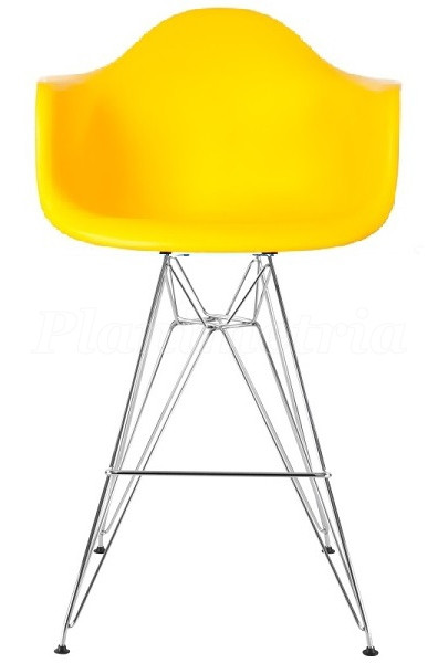 Cтул барный Тауэр Eames, пластик, хром, все цвета