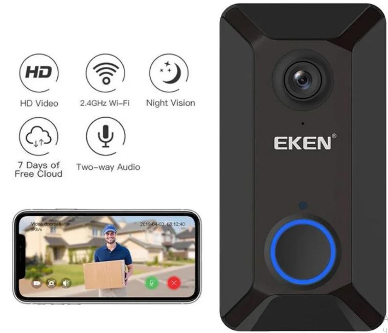 Бездротовий відео дзвінок-вічко Eken V6 Краща ціна!