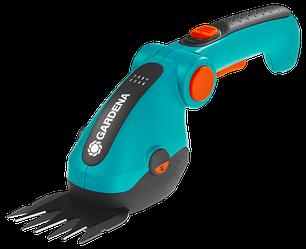 Ножницы аккумуляторные GARDENA для травы ComfortCut и лезвие для кустов