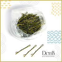 Невидимки для волос DenIS professional  H03  волна 5 см. золото - 550 шт., фото 1