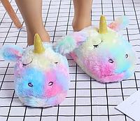 Тапочки-игрушки Единороги радужные. размер 35-38, фото 1