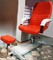 Кресло для визажа и педикюра с поддоном подставкой под ногу