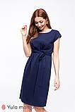 Элегантное платье для беременных и кормящих ANDIS DR-20.091 темно-синее, фото 6