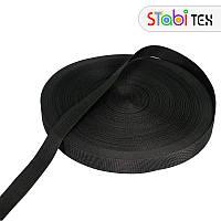 Лента ременная (стропа) 38мм (100м) Черная