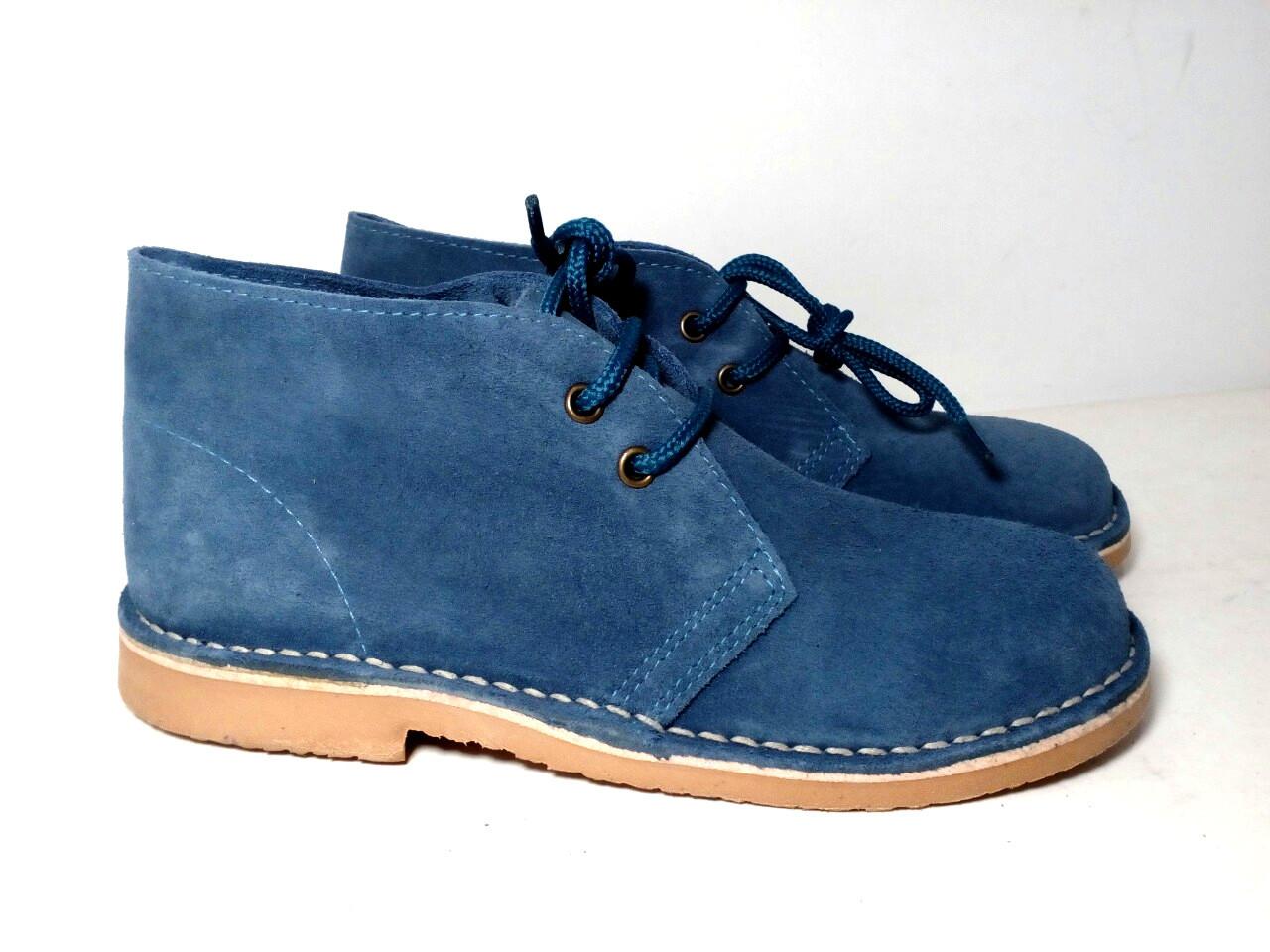 Жіночі замшеві черевики дезерты демисезон морська хвиля