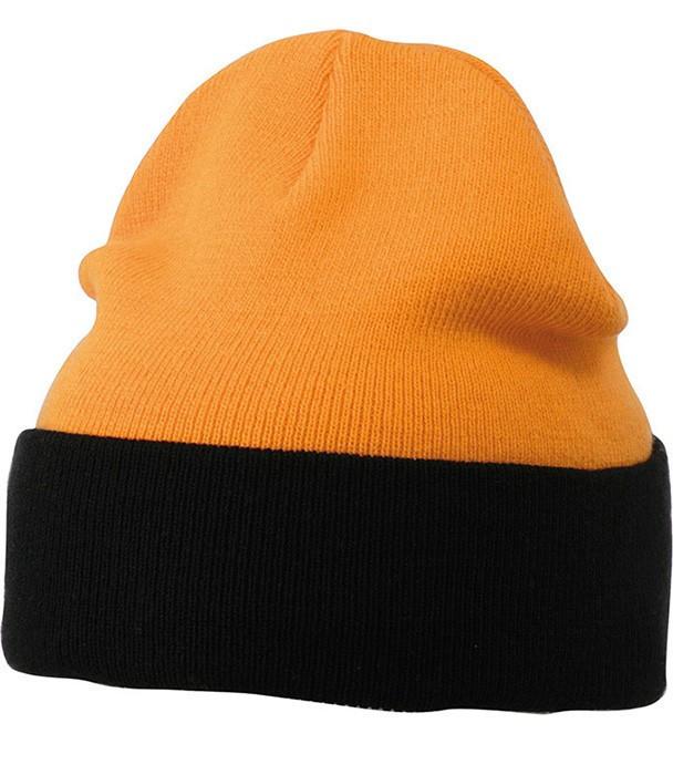 Шапка двухцветная  MORB Оранжевый / Чёрный