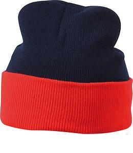 Шапка двухцветная  MNRE Тёмно-Синий / Красный