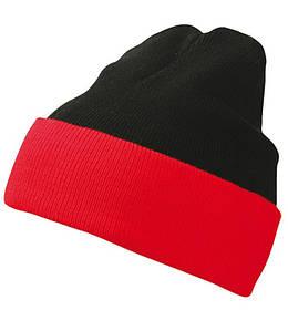 Шапка двухцветная  MBLR Черный / Красный
