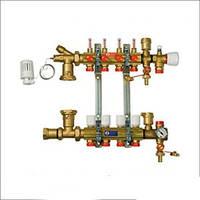 """""""Giacomini"""" Сборный узел для систем напольного отопления с расходомерами 1'x18/11"""