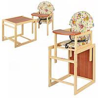 Стульчик для кормления деревянный (М V-002-8)