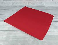 Шелковый шейный платок Accessories 0011-22 красный однотонный, фото 1