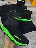 Мужские кроссовки Balenciaga D9371 черная, фото 2