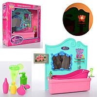 Мебель для кукол Loving 2908 ванная комната с аксессуарами и световымиэффектами
