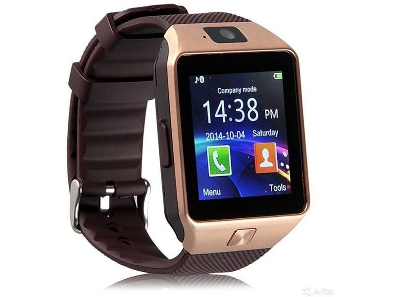 Смарт-часы UWatch DZ09 Gold (hub_eYHh83095)