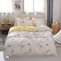"""Комплект постельного белья """"Веточки"""" (двуспальный-евро), фото 1"""