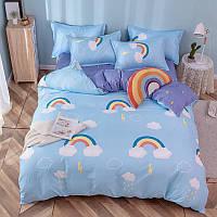 """Комплект постельного белья """"Облако и радуга"""" (двуспальный-евро)"""