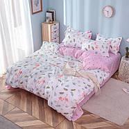 """Комплект постельного белья """"Фламинго и листья"""" (двуспальный-евро), фото 2"""