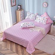 """Комплект постельного белья """"Фламинго и листья"""" (двуспальный-евро), фото 4"""