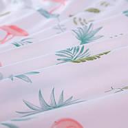 """Комплект постельного белья """"Фламинго и листья"""" (двуспальный-евро), фото 6"""