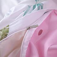 """Комплект постельного белья """"Фламинго и листья"""" (двуспальный-евро), фото 7"""