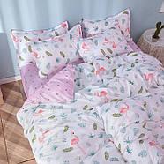 """Комплект постельного белья """"Фламинго и листья"""" (двуспальный-евро), фото 9"""