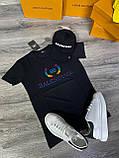 Мужская футболка Balenciaga D9372 черная, фото 2