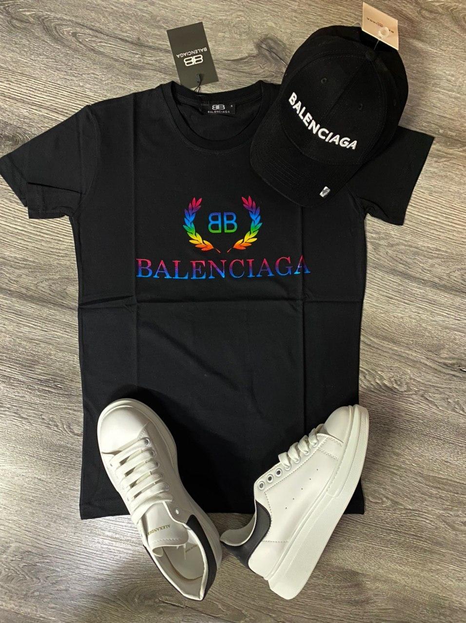 Мужская футболка Balenciaga D9372 черная