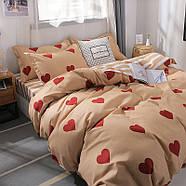 """Комплект постільної білизни """"Червоні сердечка"""" (двоспальний євро), фото 2"""