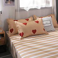 """Комплект постільної білизни """"Червоні сердечка"""" (двоспальний євро), фото 5"""