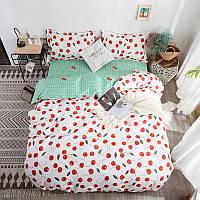 """Комплект постельного белья """"Вишенки"""" (двуспальный-евро), фото 1"""