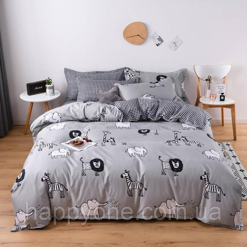 """Комплект постельного белья """"Дикие животные"""" (двуспальный-евро)"""