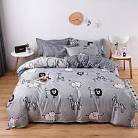 """Комплект постельного белья """"Дикие животные"""" (двуспальный-евро), фото 1"""