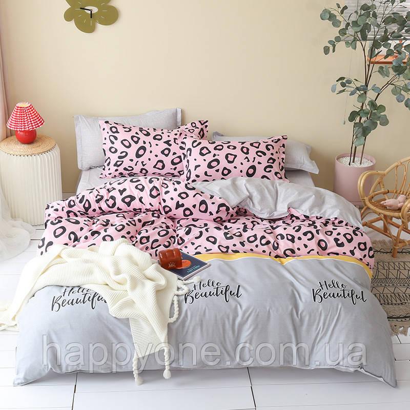 Комплект постельного белья Hello beautiful (двуспальный-евро)